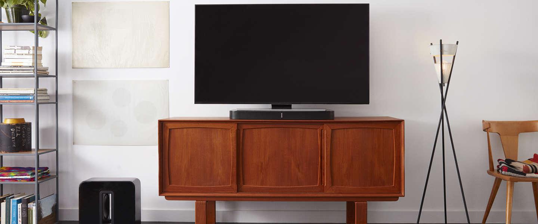 De nieuwe Sonos Playbase schuif je onder de tv