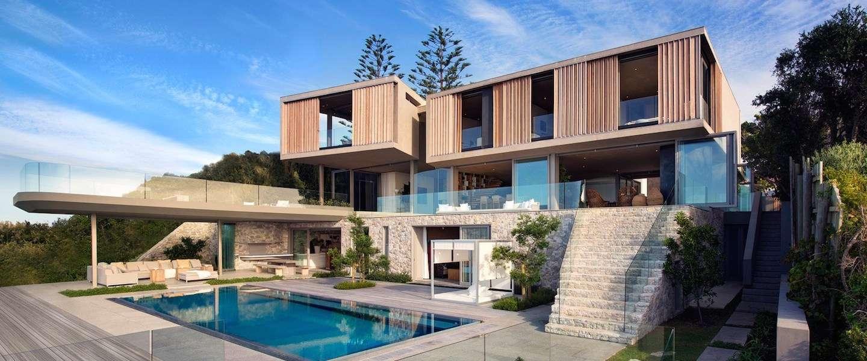 Wegdromen bij dit hypermoderne strandhuis in Zuid-Afrika