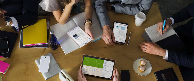 We raadplegen steeds meer online studiemateriaal op onze tablets