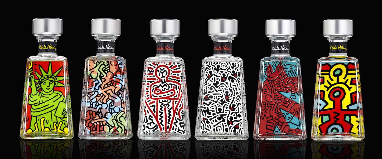 Tequila drinken in stijl uit design-flessen van Keith Haring