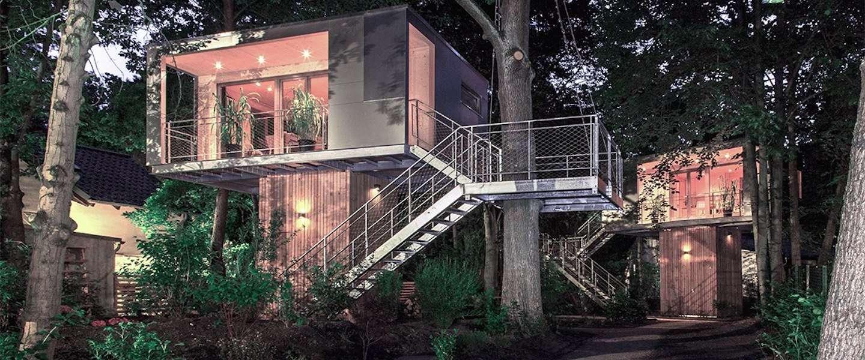 Slapen in The Urban Treehouse in Berlijn