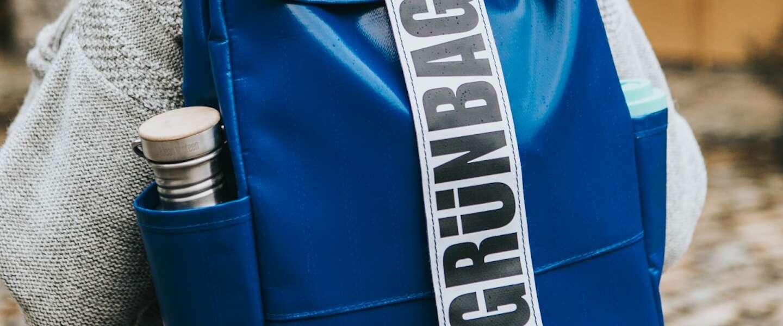 Veganistische Deense GRÜNBAG tassen zijn gemaakt van vrachtwagenzeil