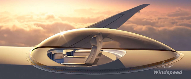 360 graden naar buiten kijken vanuit je vliegtuigstoel