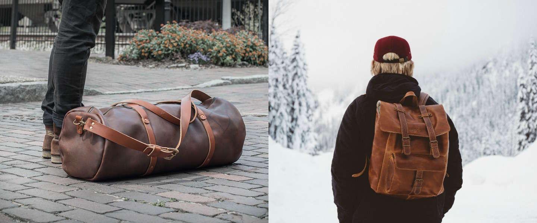 5 x stijlvolle lederen weekendtassen voor mannen