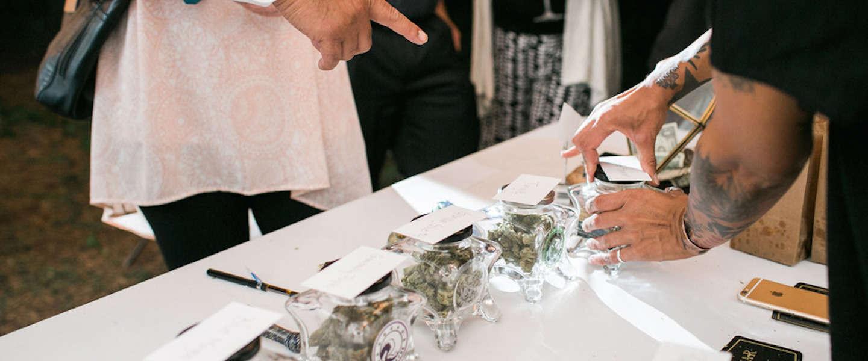 Een uitgebreid wietbuffet op je bruiloft