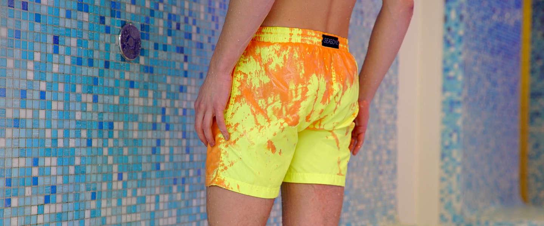 Leuk voor de zomer: een van kleur veranderende zwembroek