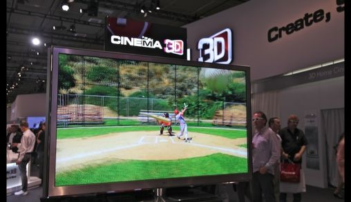 3D televisie van LG Spectaculaire