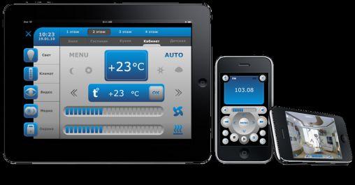 AMX Domotica app iRidium voor iPad