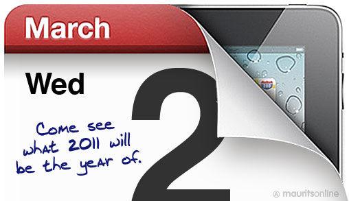 Apple Event met iPad nieuws op 2 Maart Definitief!!