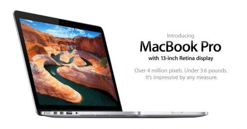 Apple introduceert 13-inch MacBook Pro met Retina-display