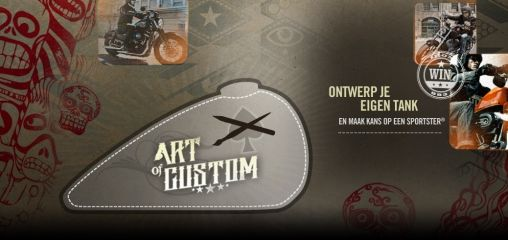 'Art of Custom' Design je eigen Harley-Tank