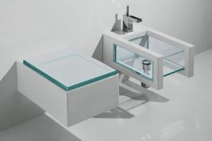 Badkamer met Glas en Chroom Design