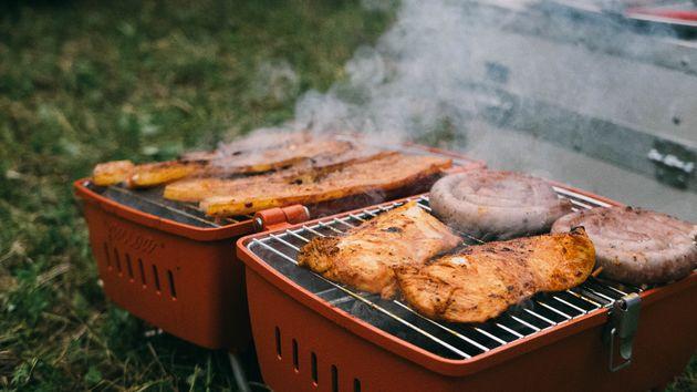 Barbecue park buiten