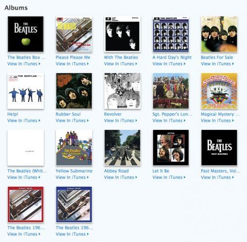 Beatles albums iTunes
