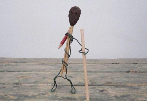 beeld met potlood