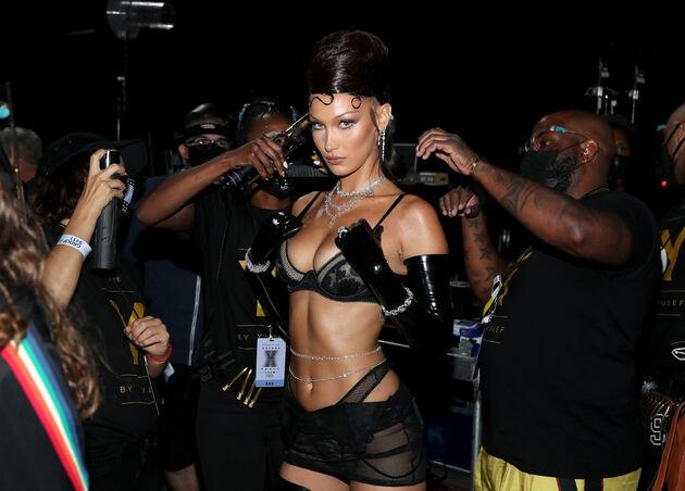 Bella Hadid Rihanna Savage
