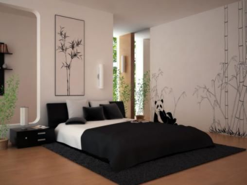 black-and-white-bed-room