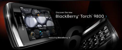 BlackBerry introduceert de 9800 Torch