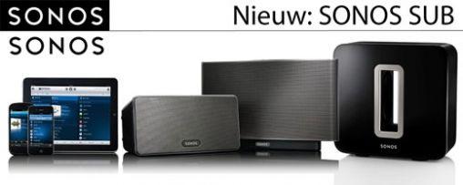 BREAKING NEWS: Sonos introduceert Sonos SUB