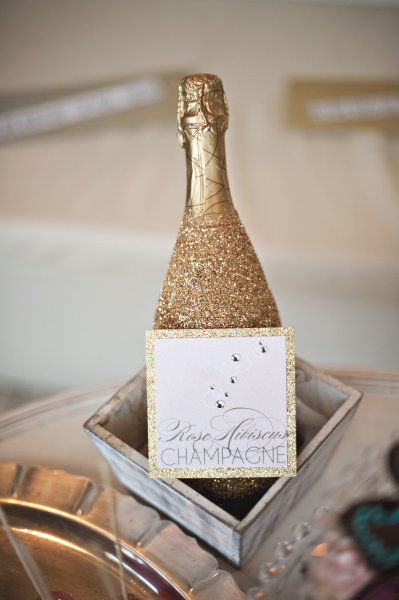Champagneflessen-glitters