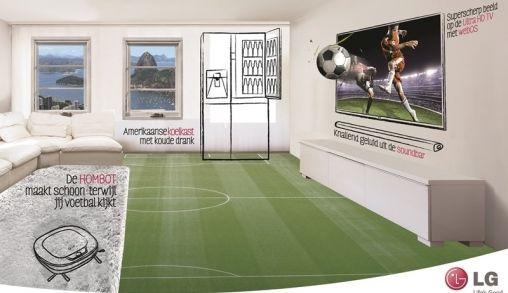 De ideale opstelling voor het WK voetbal bij jou in de huiskamer