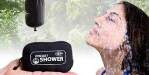 De Pocket Shower: draagbare douche