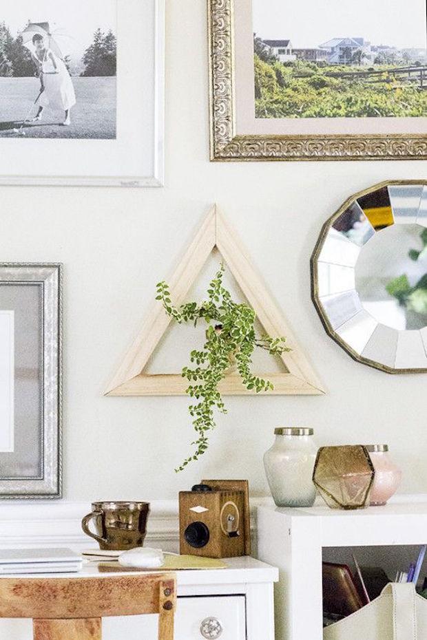 DIY driehoek plant