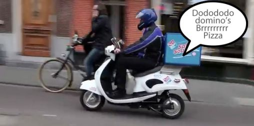 Dododododomino's: Scooter Domino's Pizza met Safe Sound [FUN]
