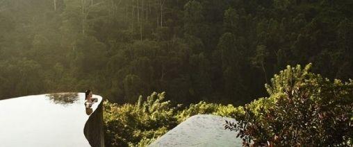 Droom locatie in de ongerepte natuur
