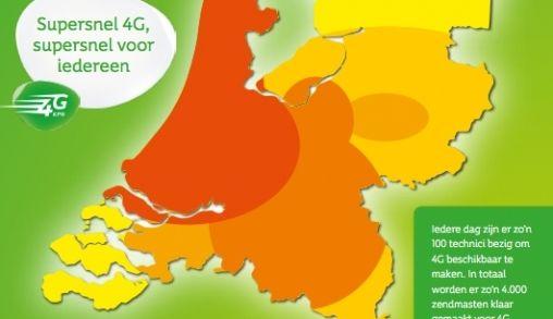 Eind maart 2014 is in heel Nederland KPN 4G beschikbaar