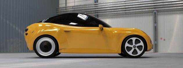Luca de plastic auto