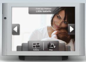 Fotolijstje met Touchscreen en GPRS-verbinding