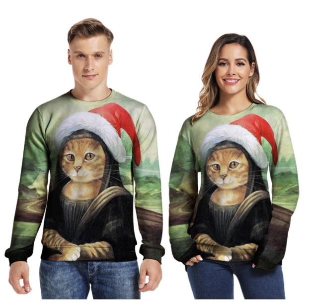 Foute kersttrui kat