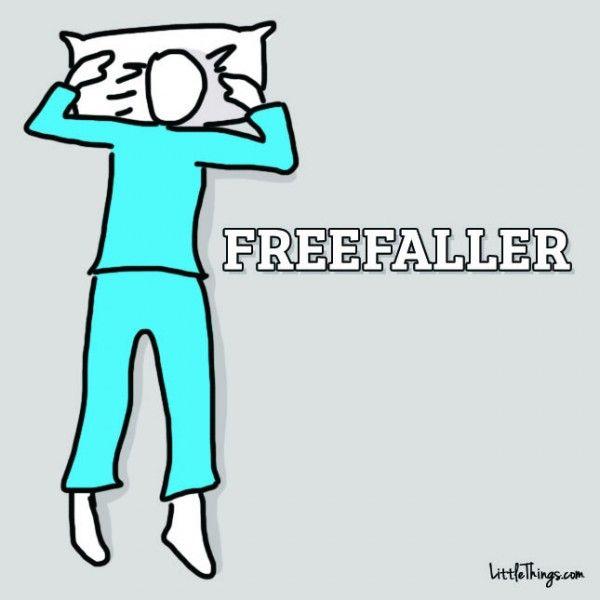 freefaller-slaap-positie