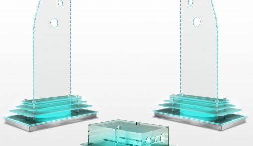 Glazen design speakers