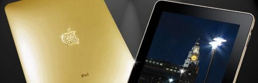 Gouden iPad ingelegd met Diamanten