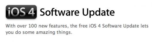 iOS 4 software update