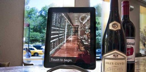 iPad als Wijnkaart bij Restaurant Vanille