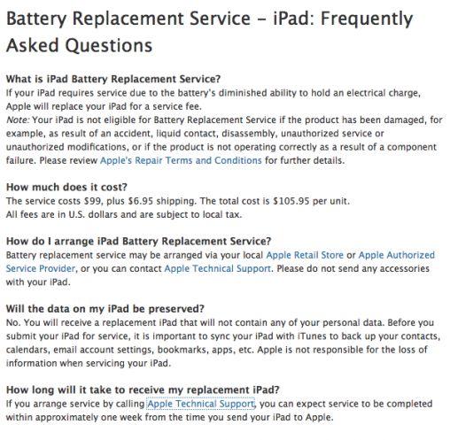ipad garantie batterij
