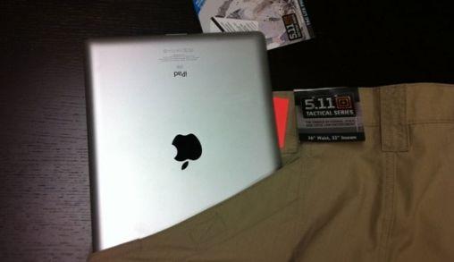 iPad past tóch in Broekzak