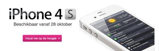 iPhone 4S vanaf 21 oktober te bestellen bij T-Mobile