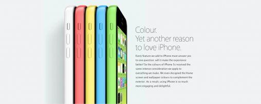 iPhone 5C in verschillende kleuren