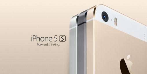 iPhone 5S in zilver, goud en grijs