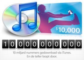iTunes Store: 10 miljard nummers