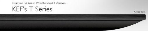 KEF's T Series voor bij je Flatscreen