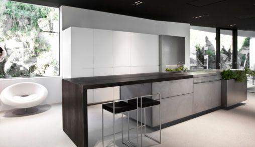 Keuken Met Beton : Keuken blad van beton een witte keuken met mooie grepen en een