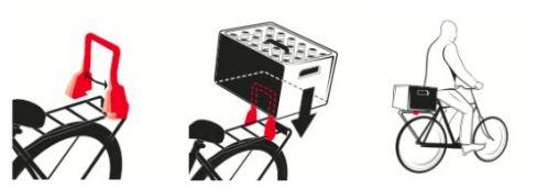 Kratvast: een bierkratdrager voor op de fiets