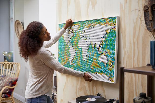 LEGO wereldkaart