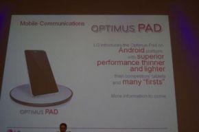LG presenteert Tablet met Honeycomb Android op de CES?