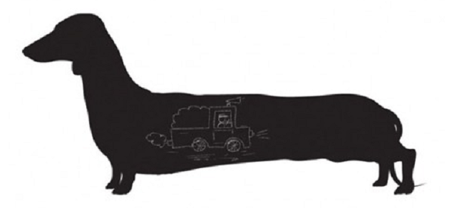 Long Dog Larry muursticker